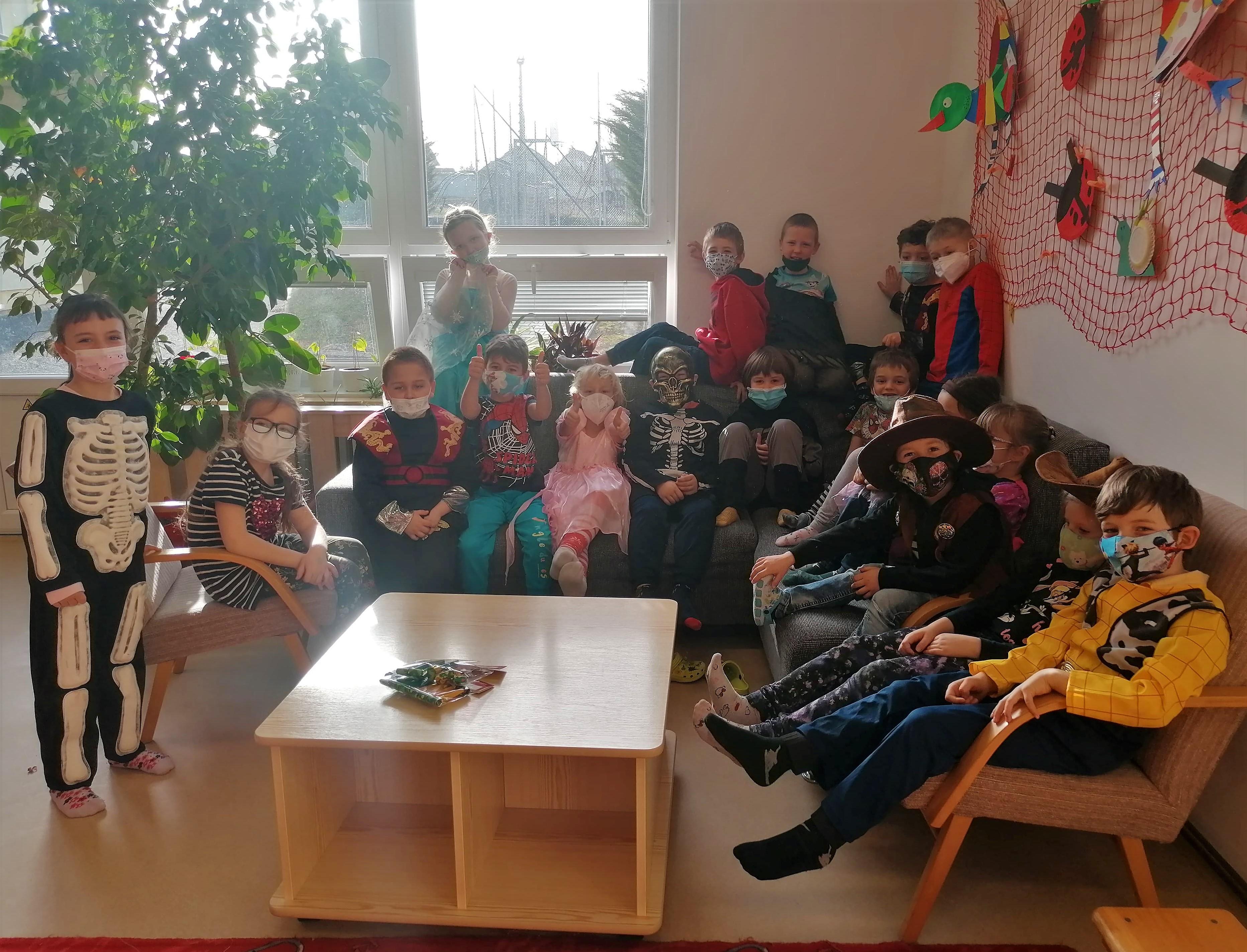 karneval v 1. třídě